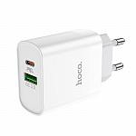 Адаптер Hoco USB Type-C + USB-A 18W 3A Adapter