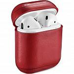 Чехол Dismac Leather Red для AirPods