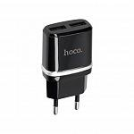 Адаптер Hoco Smart Dual USB 2.4A Black/White